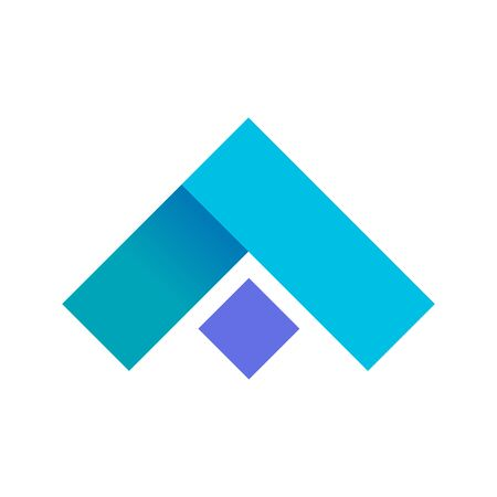 Abstract blue up arrow shape symbol vector illustration graphic design
