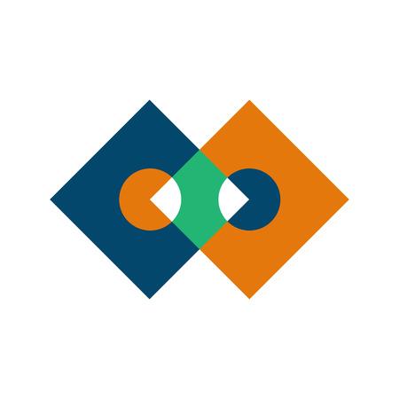 Edgy infinite boxes intersection symbol vector illustration graphic design Ilustração
