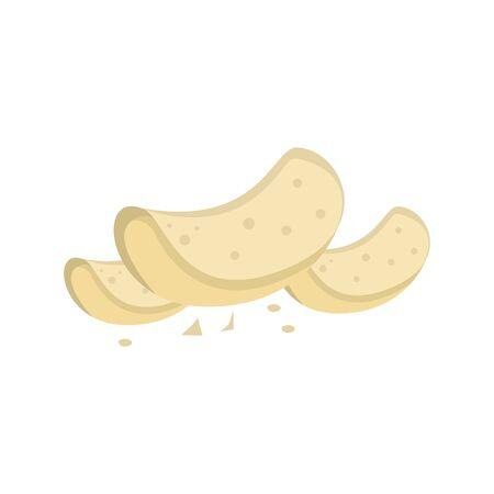 Potato Chips Crackers Vector Illustration Graphic Design