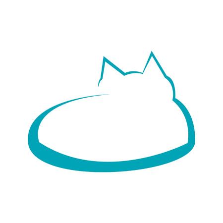 Abstract Cat Line Art Symbol Vector Illustration Graphic Design Ilustração