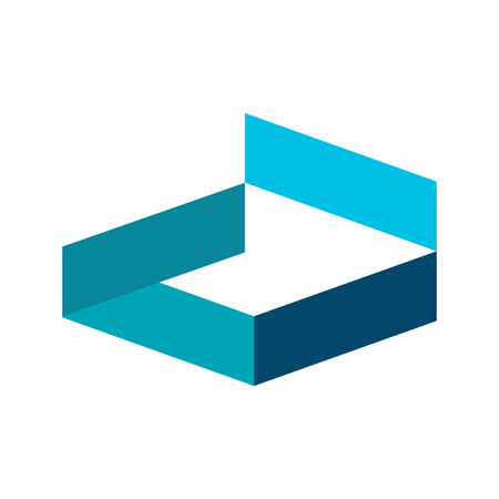 Open Fragment Hexagonal Block Intersection Symbol Vector Illustration Graphic Design Illustration