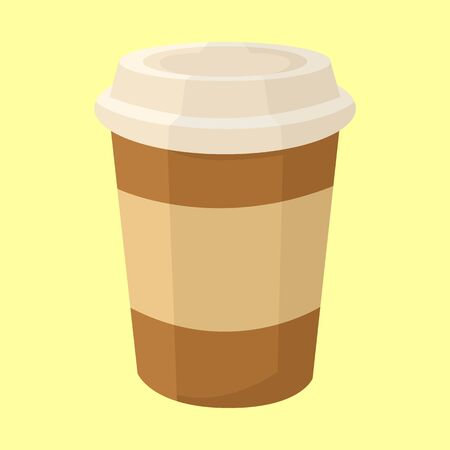 Take Away Coffee Glass Vector Illustration Graphic Design