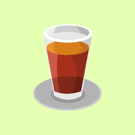 Glass of Tea Drink Vector Illustration Graphic Design