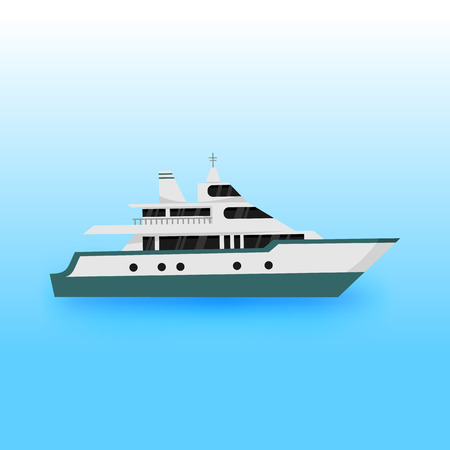 Luxury Yacht Transportation Vector Illustration Graphic Design Illustration