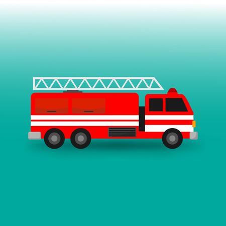 Fire Engine Firefighter Truck Vector Illustration Graphic Design