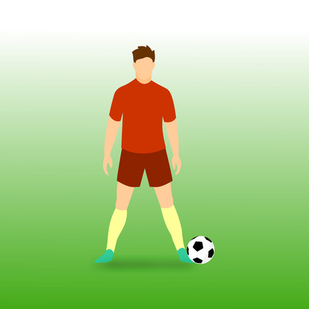 Free Kick Stance Football Player Vector Illustration Graphic Design Illustration