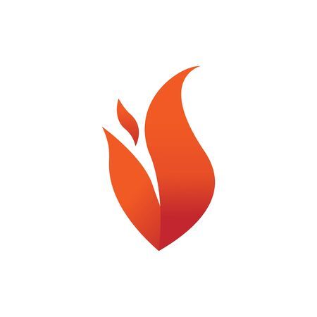 Fire flames element emblem symbol Illustration