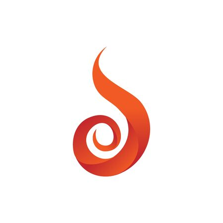 Curly fire flames element icon