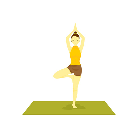 Standing Buddhism Prayer Pose Yoga Meditation Vector Illustration Graphic Design