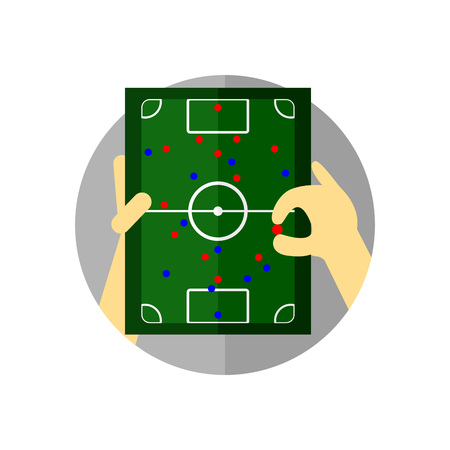 Football Tactical Briefing Strategy Vector Illustration Graphic Design.