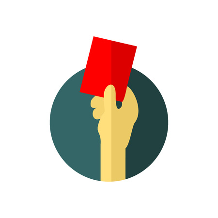 Red Card Warning Vector Illustration Graphic Design