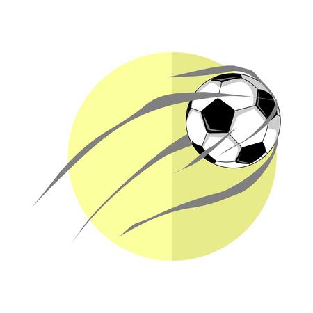 Football Ball Shot Vector Illustration Graphic Design.