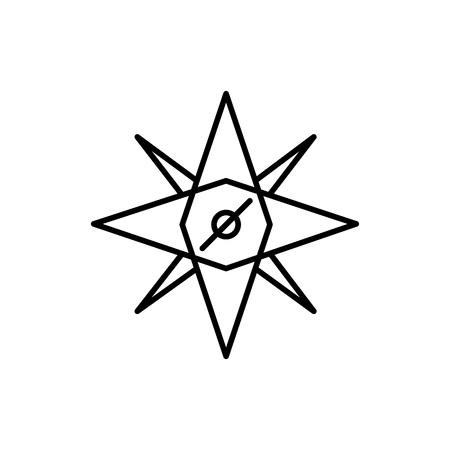Compass Cardinal Direction Adventure Thin Line Icon Symbol Vector Illustration Graphic Design