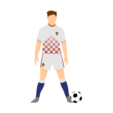 Croatia Football Jersey National Team World Cup Vector Illustration Graphic Design