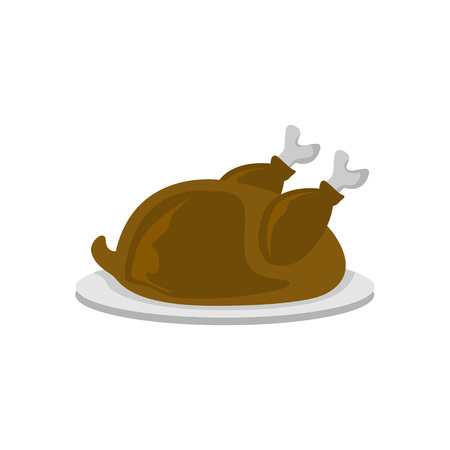 Turkey Meat Food Cafe Vector Illustration Graphic Design