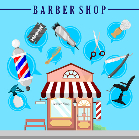 Barbershop Infographic Background Vector Illustration Graphic Design