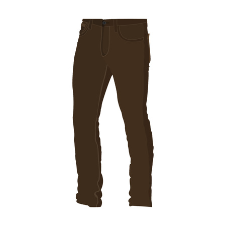 Chino Brown Long Pants Fashion Style Item Vector Illustration Graphic Design