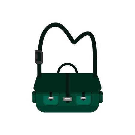 Green Simple Sling Bag Vector Illustration Graphic Design