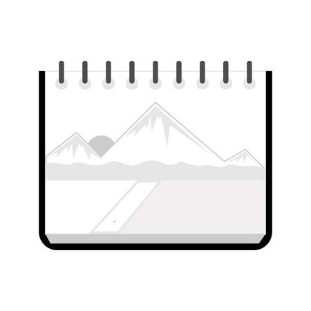 Simple Sketchbook Paper Vector Illustration Graphic Design