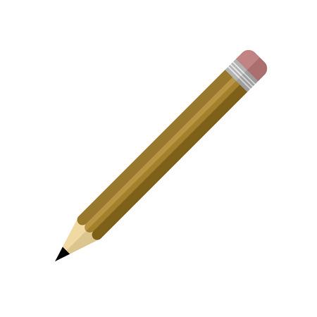Eenvoudig bruin potlood vector illustratie grafisch ontwerp