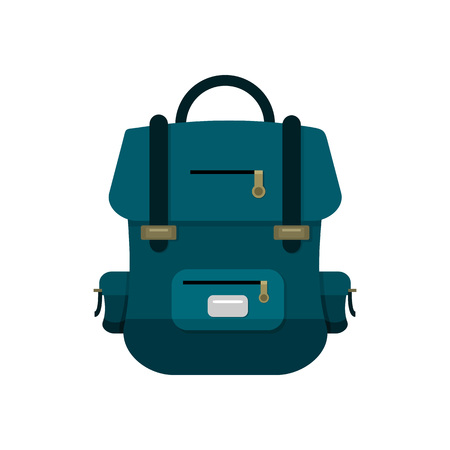 Blue School Backpack Vector Illustration Graphic Design  イラスト・ベクター素材