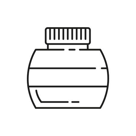 Ink bottle thin line icon isolated on a white background. Vector illustration graphic design