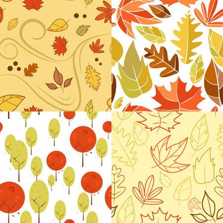Autumn Wind Vector Illustration Backgrouund Graphic Design Template Banque d'images - 119507015