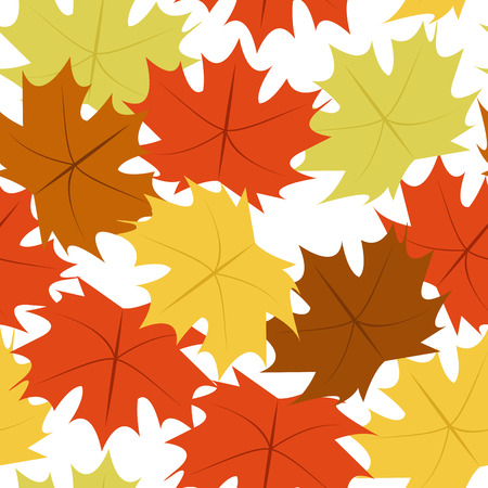 Autumn Pattern Leaf Fall Symbol Background Vector Illustration Graphic Design Template