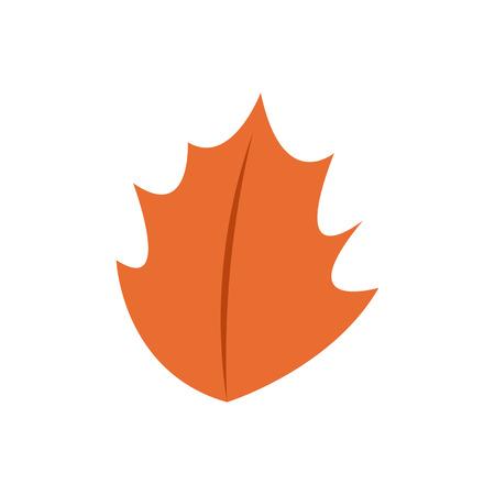 Autumn Leaf Shape Vector Symbol Illustration Graphic Design Template Illusztráció