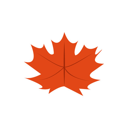 Autumn Dry Leaves Vector Symbol Illustration Graphic Design Template