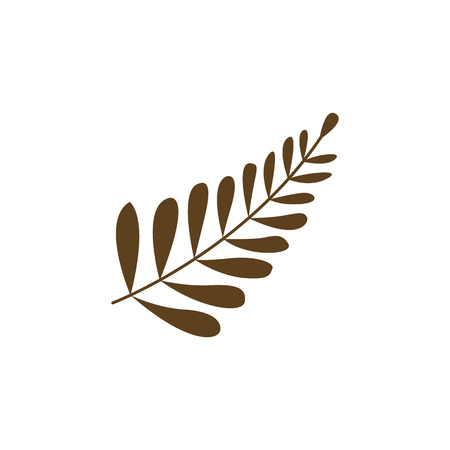 Autumn Dry Leaves Vector Symbol Illustration Graphic Design Template Banque d'images - 119507083