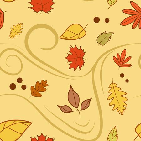 Autumn Wind Background Vector Illustration Graphic Design Template Banque d'images - 119507087