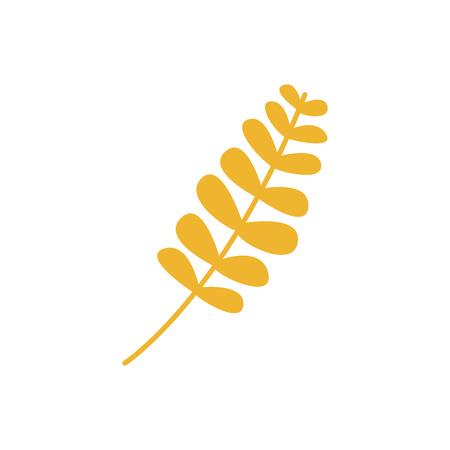 Autumn Dry Leaf Vector Symbol Illustration Graphic Design Template