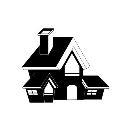Halloween House Icon Vector Illustration Graphic Design Template Illusztráció