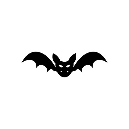 Halloween Creepy Bat Icon Vector Illustration Graphic Design Template Banque d'images - 119813518