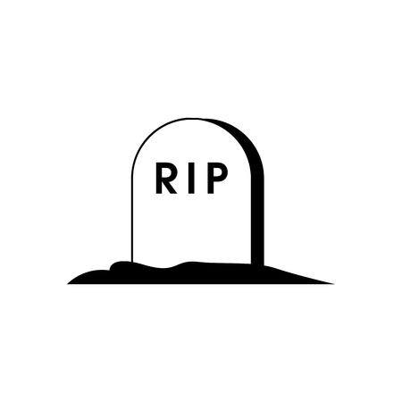 Halloween Tombstone Icon Vector Illustration Graphic Design Template Banque d'images - 124197954