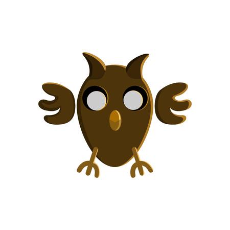 Halloween Owl Character Vector Illustration Graphic Design Template Illusztráció