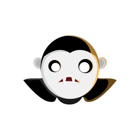 Vampire Head Character Illustration Graphic Design Template