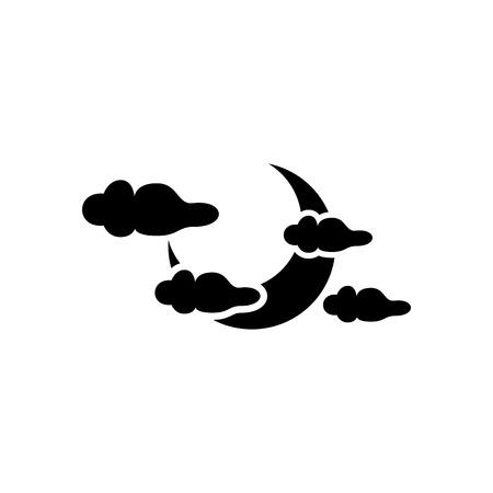 Halloween Sky Icon Vector Illustration Graphic Design Template