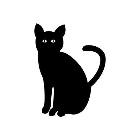 Halloween Cat Icon Vector Illustration Graphic Design Template Banque d'images - 124197964