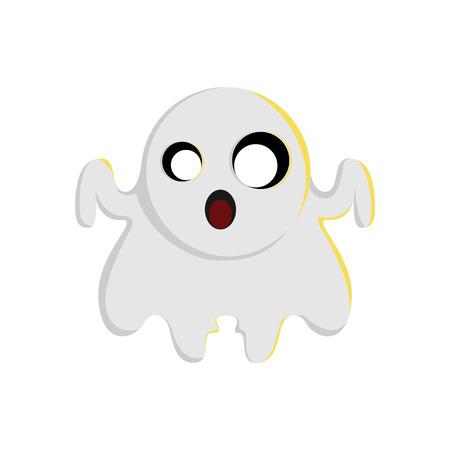 Halloween Ghost Character Illustration Graphic Design Template Illusztráció