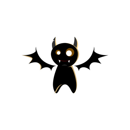Halloween Bat Character Vector Illustration Design Template