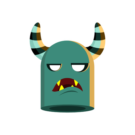 Monster Head Character Illustration Design Vector Template Banque d'images - 124197968