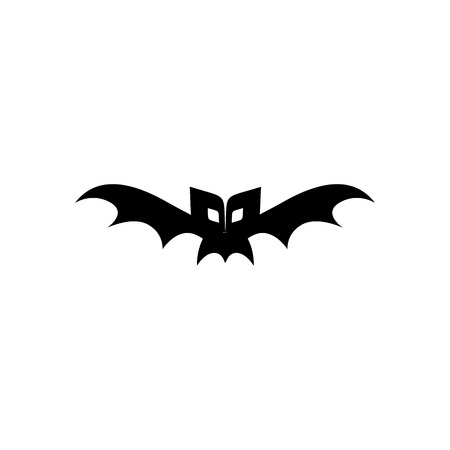 Halloween Scary Bat Icon Vector Illustration Graphic Design Template Standard-Bild - 119813531