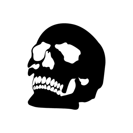 Halloween Skull Icon Vector Illustration Graphic Design Template Banque d'images - 119813530