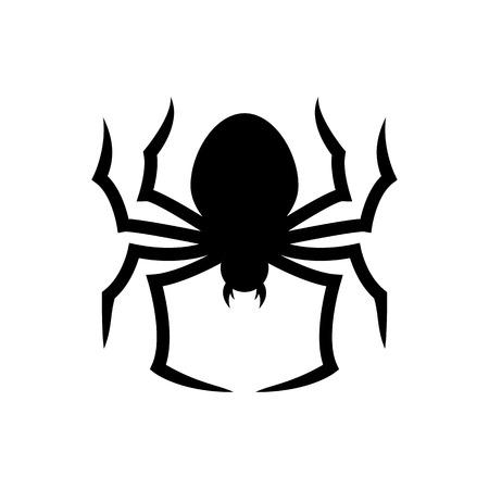 Halloween Spider Icon Vector Illustration Graphic Design Template
