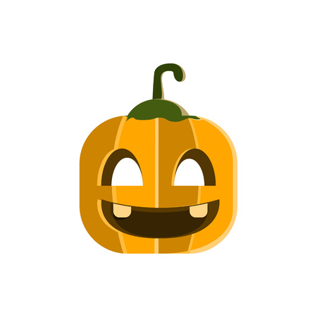 Halloween Pumpkin Character Illustration Design Vector Template Illusztráció