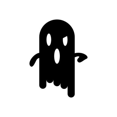 Scary Halloween Ghost Icon Vector Illustration Graphic Design Template Illusztráció