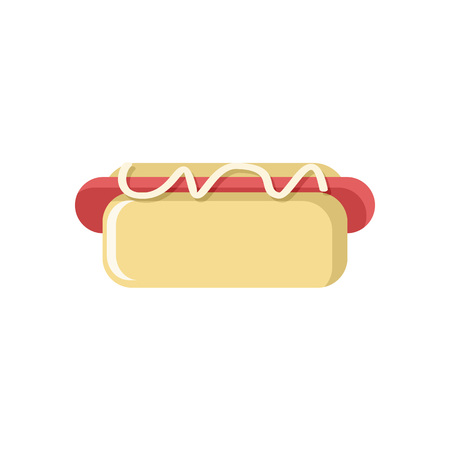 Tasty Hotdog Icon Vector Illustration Graphic Design Template Banque d'images - 124197983