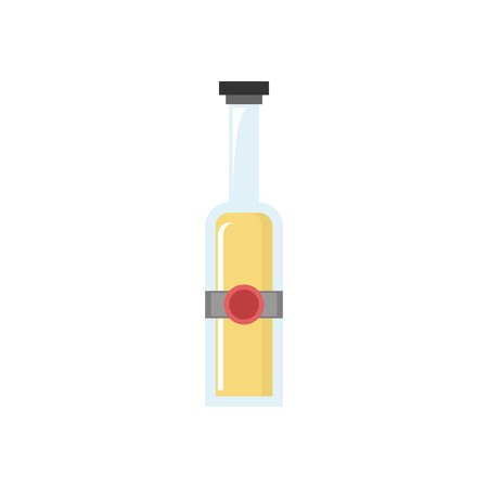 Beer Bottle Vector Icon Illustration Graphic Design Template